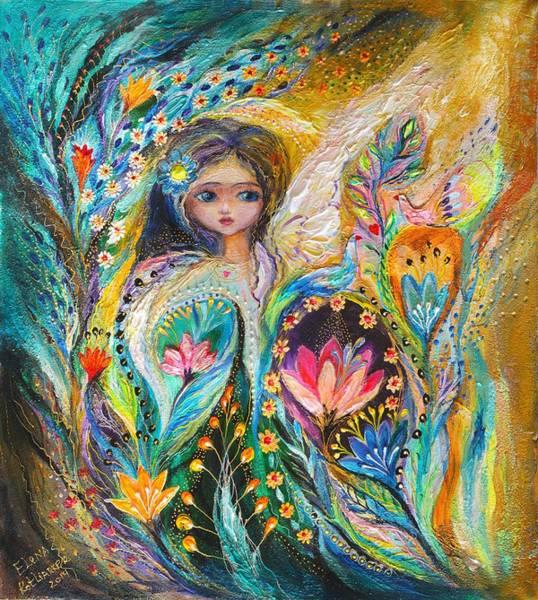 Wall Art - Painting - My Little Fairy Hannah by Elena Kotliarker