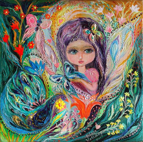 Wall Art - Painting - My Little Fairy Iris by Elena Kotliarker