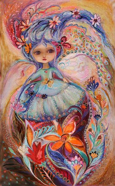 Wall Art - Painting - My Little Fairy Malvina by Elena Kotliarker