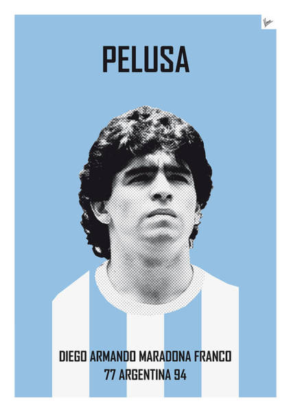 South America Digital Art - My Maradona Soccer Legend Poster by Chungkong Art