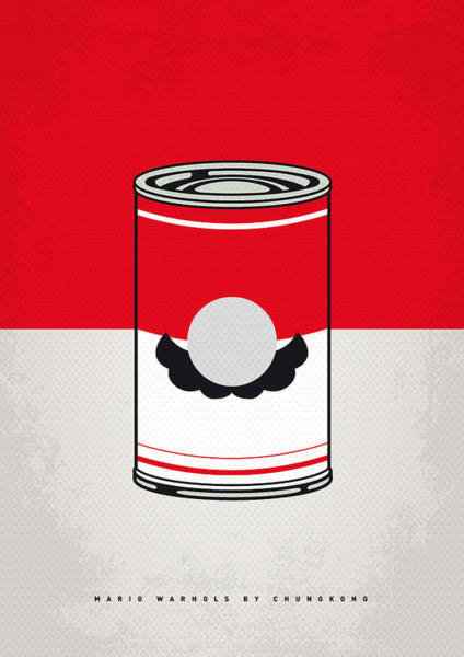 Digital Art - My Mario Warhols Minimal Can Poster-mario by Chungkong Art