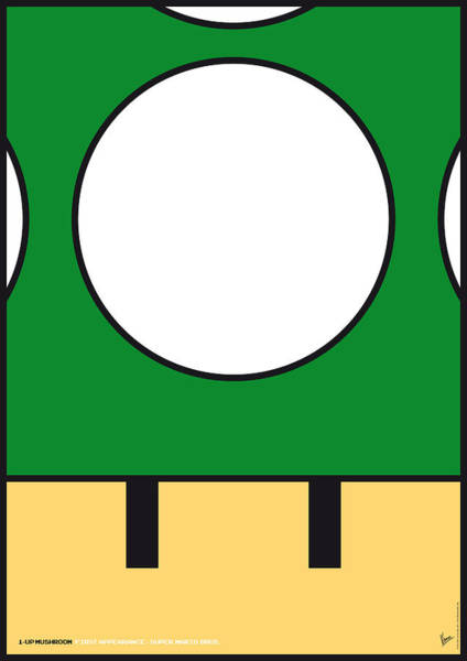 Digital Art - My Mariobros Fig 05b Minimal Poster by Chungkong Art