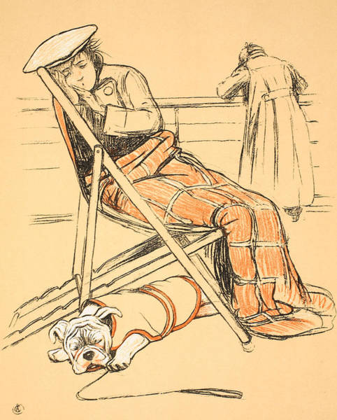 Hound Drawing - My Miserable Mistress by Cecil Charles Windsor Aldin