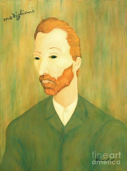 Wall Art - Painting - My Modigliani Style Vincent Van Gogh by Jerome Stumphauzer