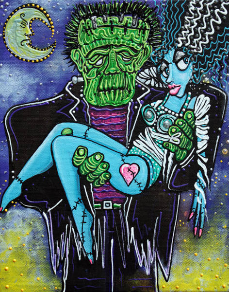 Wall Art - Painting - My Monster My Bride by Laura Barbosa