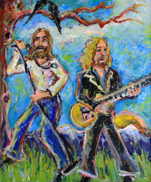 Allman Painting - My Morning Song - The Black Crowes by Jason Gluskin