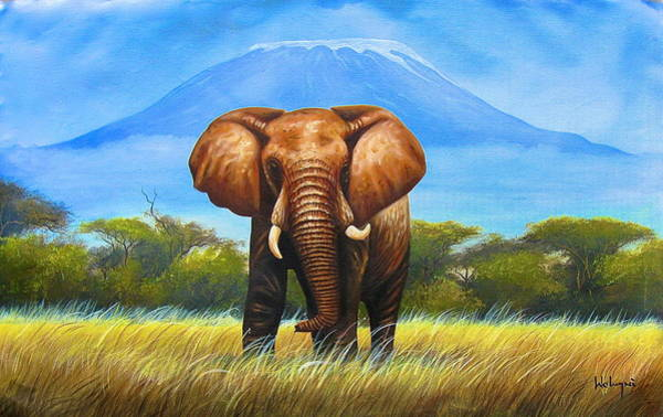 Painting - My Mountain by Chagwi