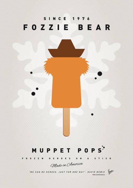 Wall Art - Digital Art - My Muppet Ice Pop - Fozzie Bear by Chungkong Art