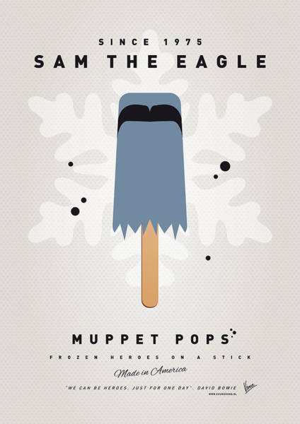 Digital Art - My Muppet Ice Pop - Sam The Eagle by Chungkong Art