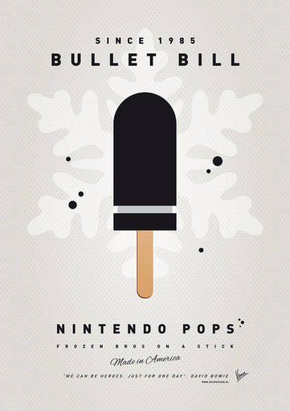 Ice Plant Digital Art - My Nintendo Ice Pop - Bullet Bill by Chungkong Art