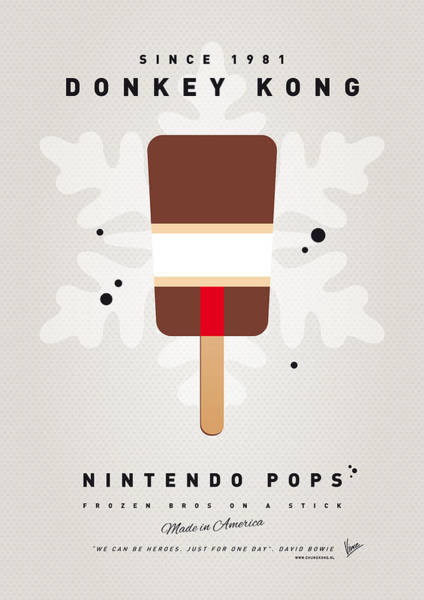 Ice Plant Digital Art - My Nintendo Ice Pop - Donkey Kong by Chungkong Art