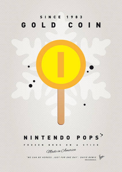 Wall Art - Digital Art - My Nintendo Ice Pop - Gold Coin by Chungkong Art
