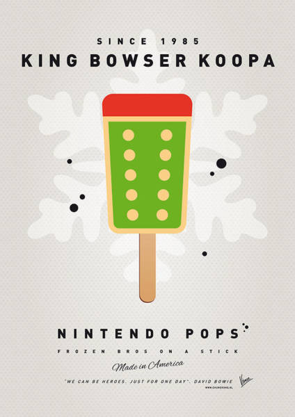 Ice Plant Digital Art - My Nintendo Ice Pop - King Bowser by Chungkong Art