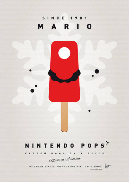 Wall Art - Digital Art - My Nintendo Ice Pop - Mario by Chungkong Art