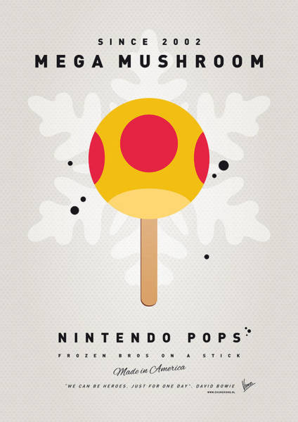Wall Art - Digital Art - My Nintendo Ice Pop - Mega Mushroom by Chungkong Art