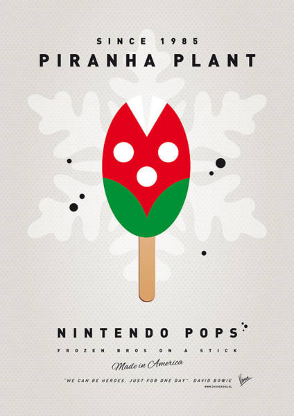 Wall Art - Digital Art - My Nintendo Ice Pop - Piranha Plant by Chungkong Art
