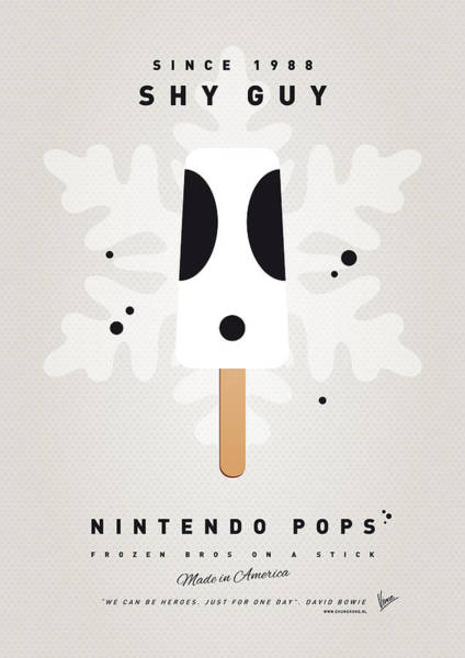 Wall Art - Digital Art - My Nintendo Ice Pop - Shy Guy by Chungkong Art