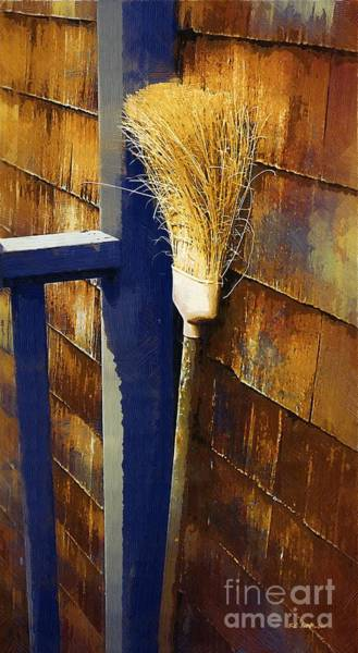 Painting - My Old Broom by RC DeWinter