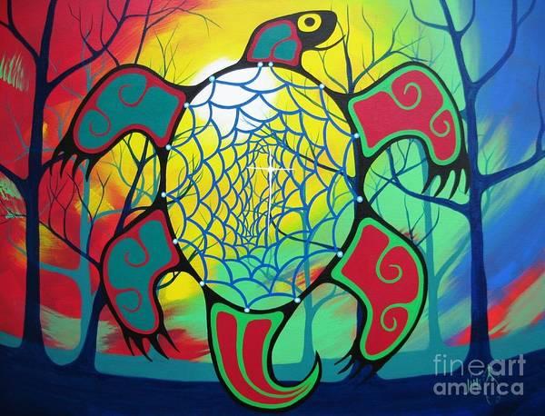 Native Painting - My Path by Jim Oskineegish