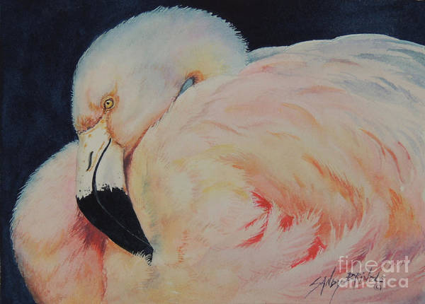 Painting - My Pink Flamingo...sold  by Sandy Brindle
