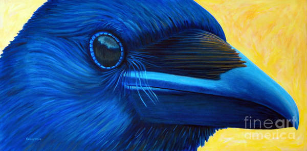 Wall Art - Painting - My Raven Self by Brian  Commerford