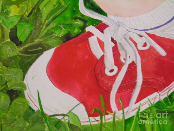 Painting - My Red Shoe by Peggy Dickerson