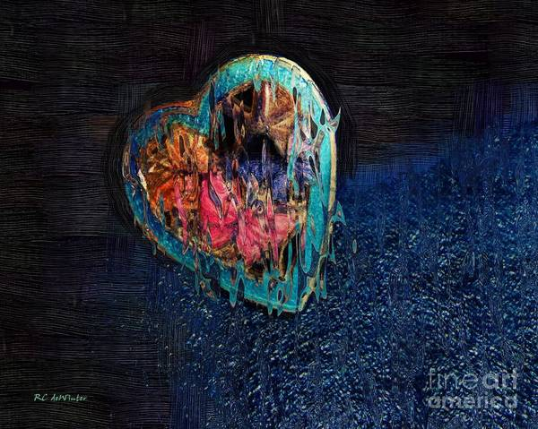 Painting - My Rough Imperfect Heart by RC DeWinter
