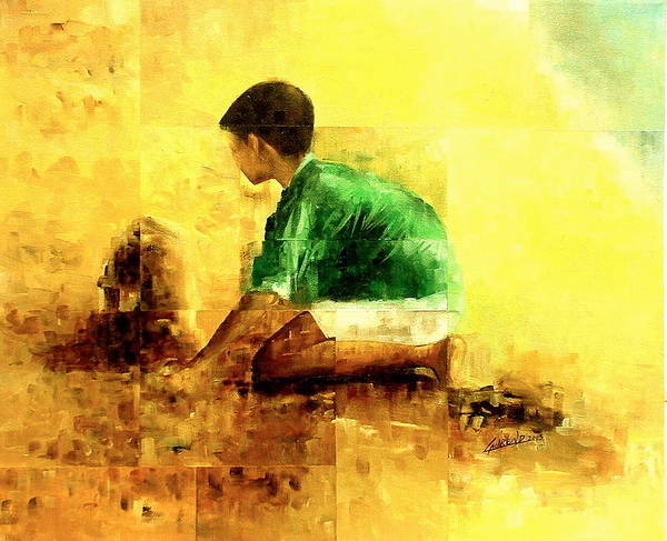 Painting - My Sand Castle by Laurend Doumba