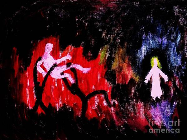 Spiritual Warfare Painting - My Savior Comes To My Rescue by Esther Rowden