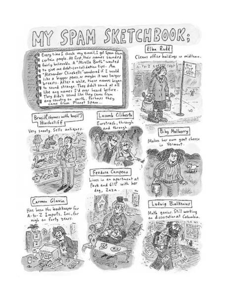 Earth Drawing - My Spam Sketchbook by Roz Chast