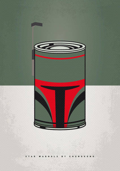 Wall Art - Digital Art - My Star Warhols Boba Fett Minimal Can Poster by Chungkong Art