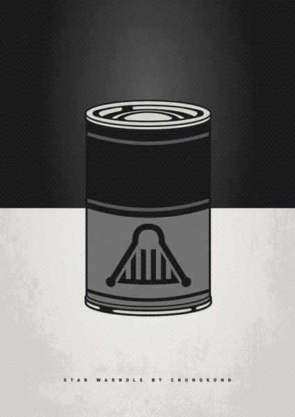 Wall Art - Digital Art - My Star Warhols Darth Vader Minimal Can Poster by Chungkong Art