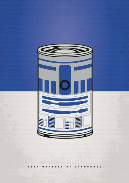 Wall Art - Digital Art - My Star Warhols R2d2 Minimal Can Poster by Chungkong Art