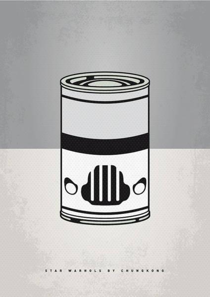 Symbolism Wall Art - Digital Art - My Star Warhols Stormtrooper Minimal Can Poster by Chungkong Art
