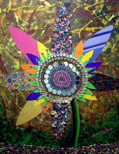 Mixed Media - My Sunflower by Owen Lafon