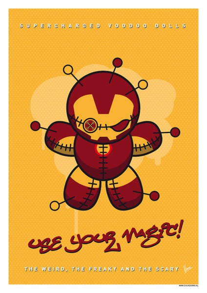 Doll Wall Art - Digital Art - My Supercharged Voodoo Dolls Ironman by Chungkong Art