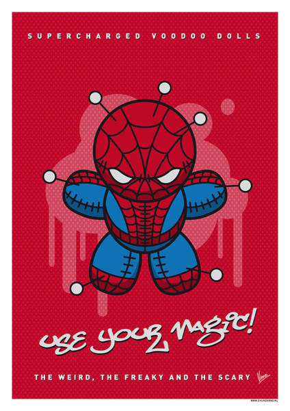 Doll Wall Art - Digital Art - My Supercharged Voodoo Dolls Spiderman by Chungkong Art