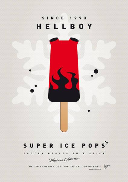 Power Wall Art - Digital Art - My Superhero Ice Pop - Hellboy by Chungkong Art