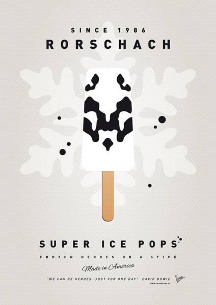 Power Wall Art - Digital Art - My Superhero Ice Pop - Rorschach by Chungkong Art