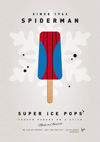 Comics Digital Art - My Superhero Ice Pop - Spiderman by Chungkong Art