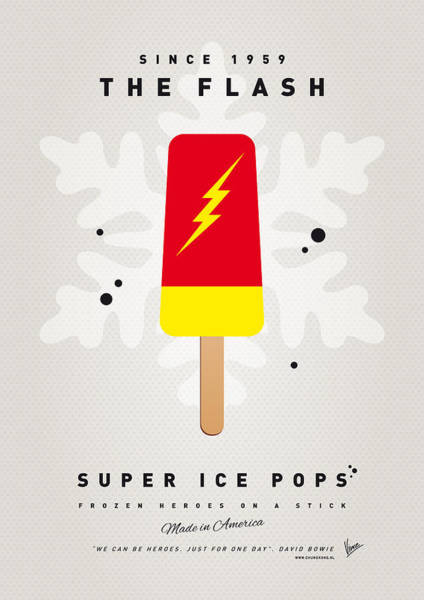 Power Wall Art - Digital Art - My Superhero Ice Pop - The Flash by Chungkong Art