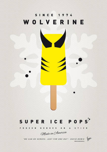 Comics Digital Art - My Superhero Ice Pop - Wolverine by Chungkong Art