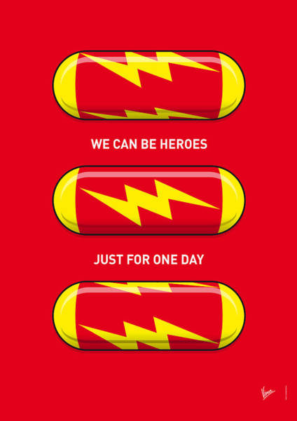 Wall Art - Digital Art - My Superhero Pills - The Flash by Chungkong Art