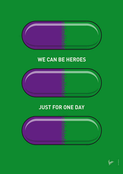 Wall Art - Digital Art - My Superhero Pills - The Hulk by Chungkong Art