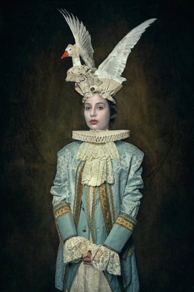 Portriat Photograph - My Swan Hat by Carola Kayen-mouthaan