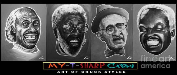 Barbershop Wall Art - Painting - My-t-sharp Crew Blk by Shop Aethetiks