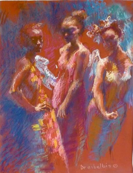 Pastel - My Three Angels by Ellen Dreibelbis