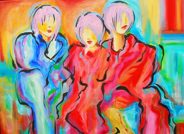 Susi Wall Art - Painting - My Three Muses by Susi Franco