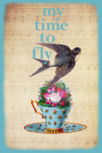Digital Art - My Time To Fly by Peggy Collins