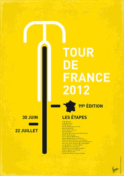 Tour Wall Art - Digital Art - My Tour De France Minimal Poster 2012 Oud by Chungkong Art